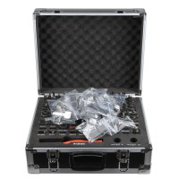 2 in 1 Lishi Locksmith Kit Including 77 pcs (31 pcs Veritcal Milling, 45 pcs Flat Milling, 1 pcs Cutter, Carry Box)