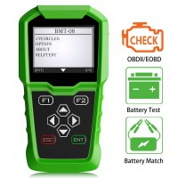 OBDSTAR BMT-08 12V/24V Automotive Battery Tester and Car Battery Match tool