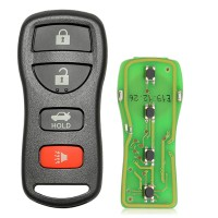 Xhorse XKNI00EN Universal Wired Remote Key 3+1/ 4 Buttons for Nissan Type for VVDI Mini Key Tool