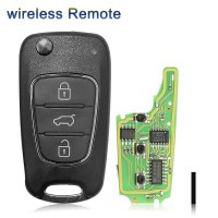 XHORSE XNHY02EN Wireless Remote Key for HYUNDAI Flip 3 Buttons Remotes for VVDI Key Tool ( English Version )