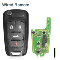 XHORSE XKBU01EN Buick Wired with Folding 4 Buttons Remote Key  5pcs/ lot
