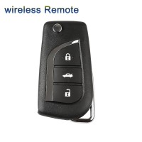 XHORSE XNTO00EN Wireless Universal Remote Key Toyota Style 3 Buttons Remotes for VVDI Key Tool English Version