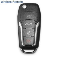 XHORSE XNFO01EN Universal Remote Car Key 4 Buttons Wireless For Ford  (English Version)