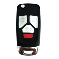XHORSE XKAU02EN VVDI FLIP KEY UNIVERSAL REMOTE KEY WIRED for AUDI TYPE 3+ PANIC