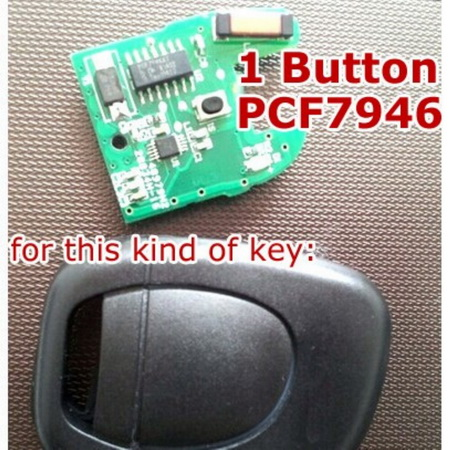 1 button remote key for renault 433 mhz