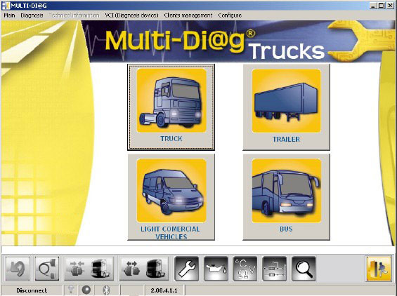 Multi-Diag Truck Heavy Duty Diagnostic Tool software