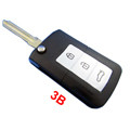 Modified Remote Key Shell 3 Button for Hyundai Sonata NFC 10pcs/lot