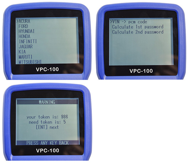 VPC-100 Hand-Held Vehicle PinCode Calculator (With 300 Tokens)