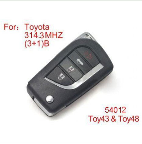 modified remote key 4buttons 314.3MHZ for Toyota (not including the chip)