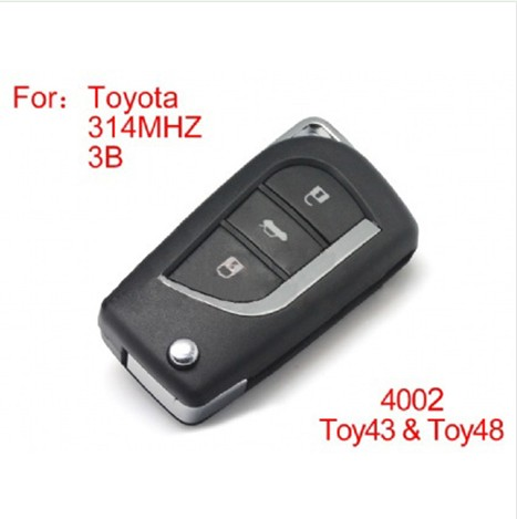 Modified Remote key 3buttons 314MHZ for Toyota (not including the chip)