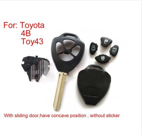 Remote Key Shell 4 Button (without sticker) for Toyota 10 Pcs/lot