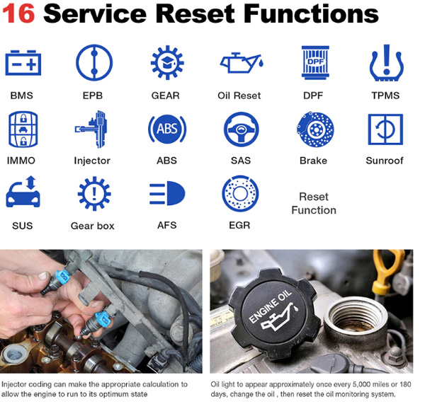 launch thinkdiag reset functions