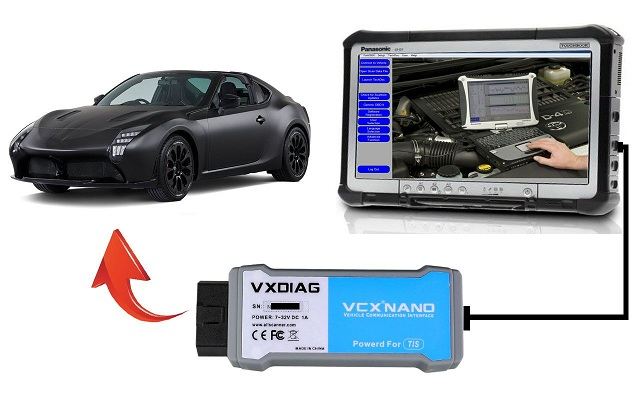 vxdiag toyota connnection