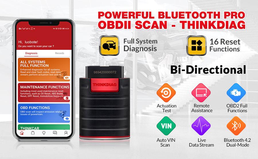 Thinkdiag obd2 scan