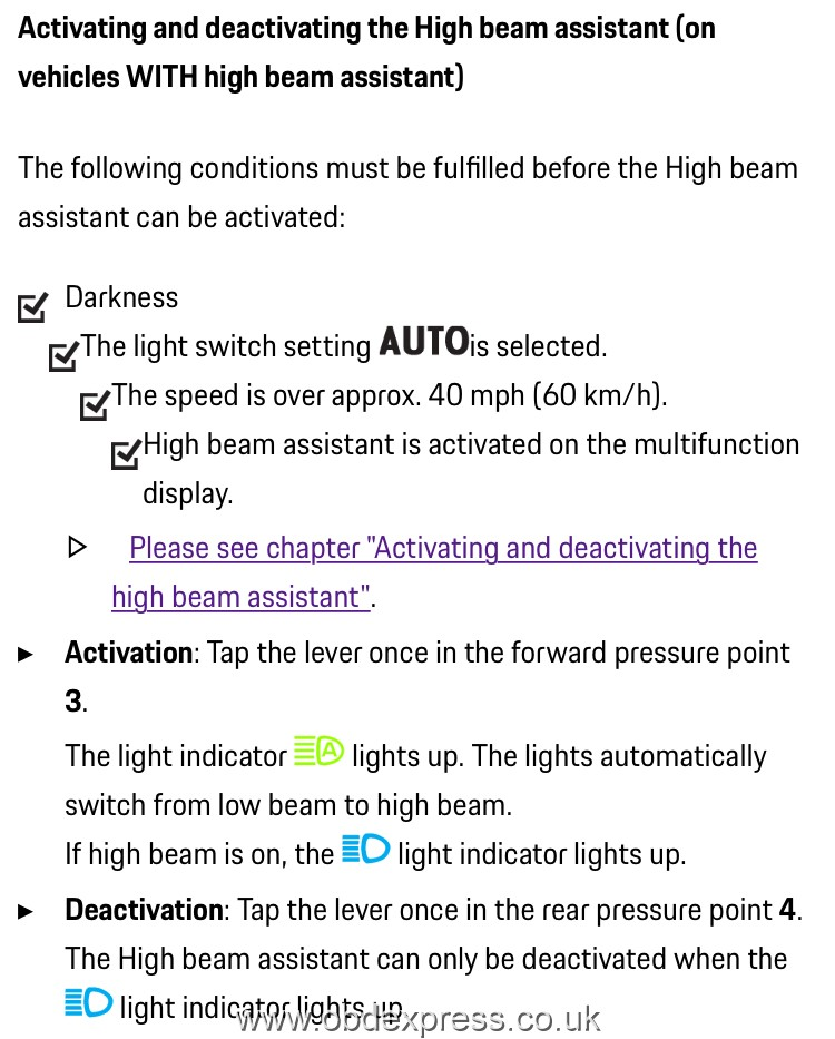 Enable Porsche 991 High Beam Assist using PIWIS Tester III 3