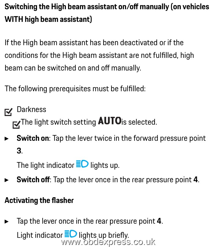Enable Porsche 991 High Beam Assist using PIWIS Tester III