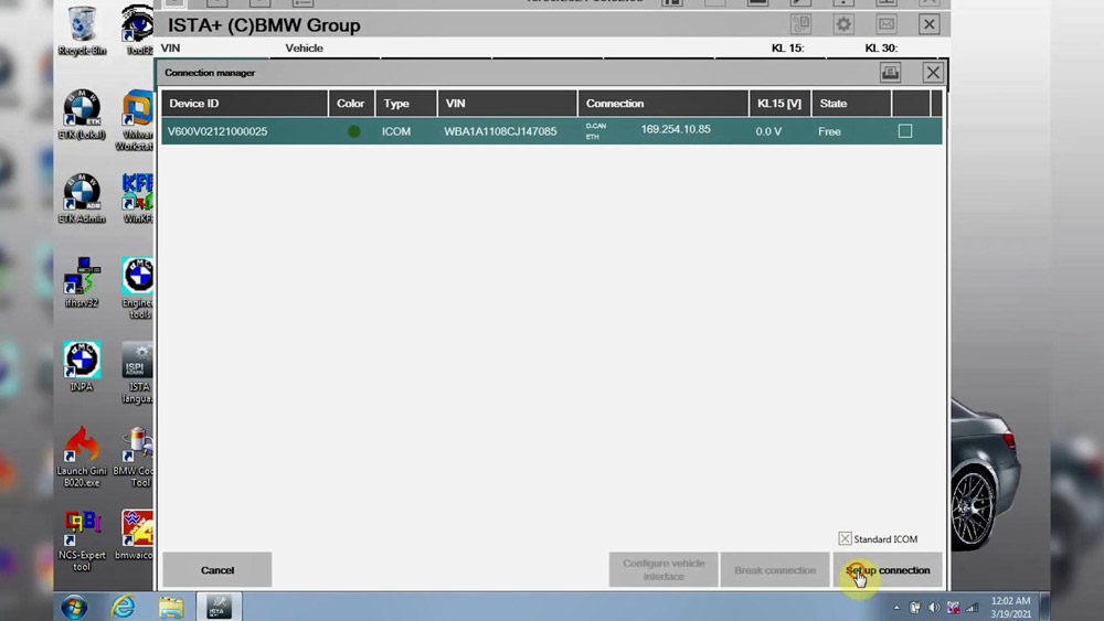GODIAG V600-BM upgrade firmware and BMW ISTA-D test
