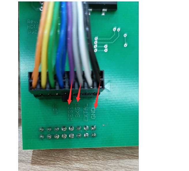 Xprog M 6.12 color jump cable connection teaching