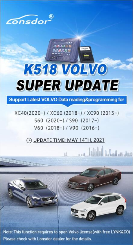 CEM located on new Volvo models for Lonsdor K518